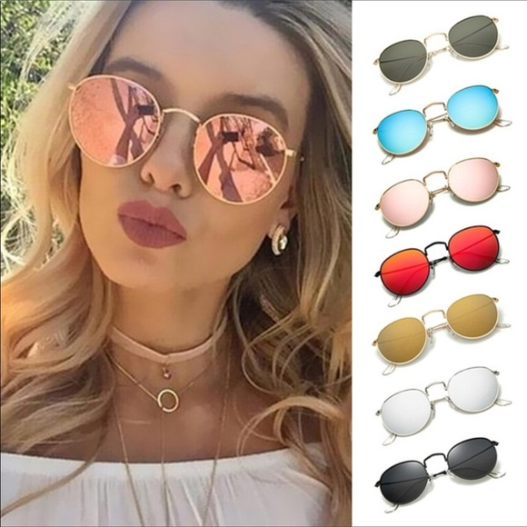 Accessories - Round Mirrored Sunglasses